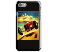 """TRACK RACING GRAND PRIX"" Vintage Auto Print iPhone Case/Skin"