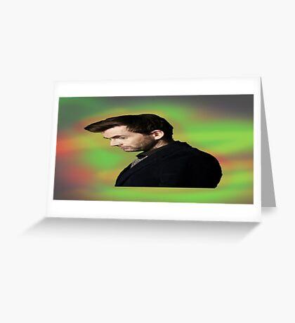 "David Tennant ""hippie"" background Greeting Card"