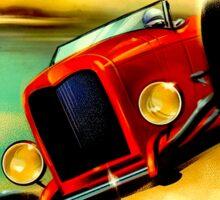 """TRACK RACING GRAND PRIX"" Vintage Auto Print Sticker"