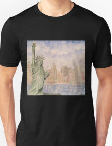 Statue of Liberty-scroll down to view more of my work Unisex T-Shirt