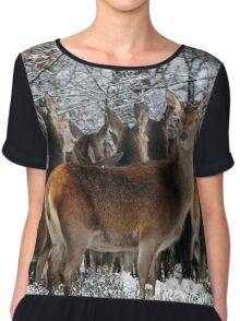 Deer in winter Chiffon Top