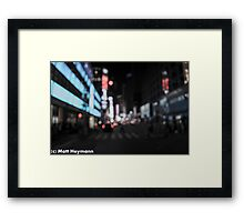 Blurry Broadway Memories Framed Print
