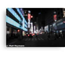 Blurry Broadway Memories Canvas Print