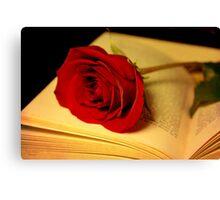 Romance in Literature Canvas Print