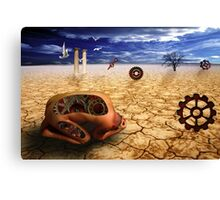left to get wet by the desert Canvas Print