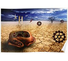 left to get wet by the desert Poster