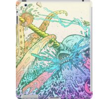 NARWHAL VS GIANT SQUID iPad Case/Skin