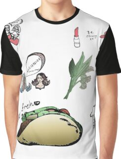 super cute patterns - fresh tacos / pretty + strong girlies Graphic T-Shirt