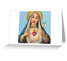Virgin Adoration  Greeting Card