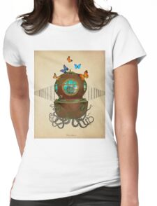 octopus Womens Fitted T-Shirt