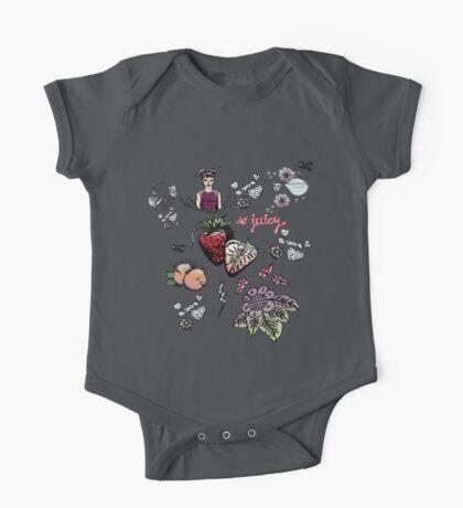 super cute patterns - sweet + brave + berry juicy One Piece - Short Sleeve