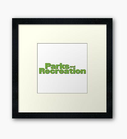 Parks and Rec logo Framed Print