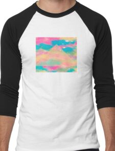 Psychedelic Tie Dye Pyramid Heaven Men's Baseball ¾ T-Shirt