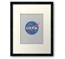 Space Geek Framed Print