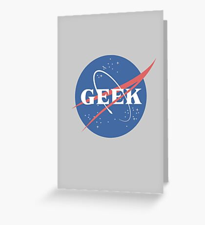 Space Geek Greeting Card