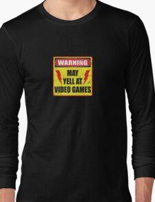Gamer Warning Long Sleeve T-Shirt