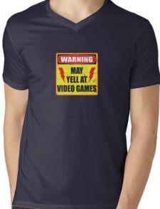 Gamer Warning Mens V-Neck T-Shirt