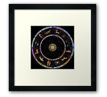 The Zodiac Chart - custom colours by request Framed Print