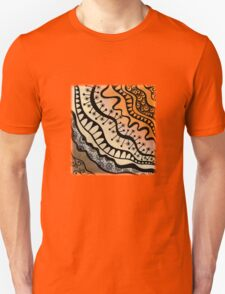 Tangle from copper to bronze Unisex T-Shirt