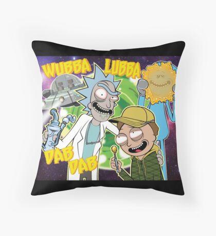 Rick and Morty Dab Design  Throw Pillow