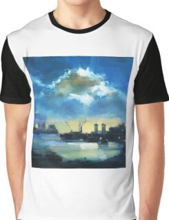 Cloud over Docklands ~ oil painting Graphic T-Shirt