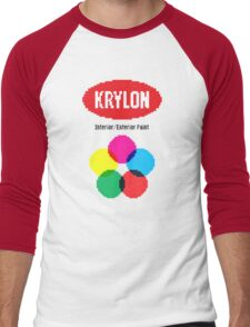 Krylon Spray Paint 8-Bit Men's Baseball ¾ T-Shirt