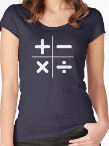 MATH logo Women's Fitted Scoop T-Shirt