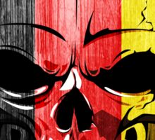 SKULL GERMANY FLAG EVIL BIKER SCARY GERMAN DEUTSCHLAND Sticker
