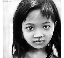 Jakarta Girl Digital Portrait Photographic Print