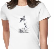 RABBIT GOES DUCK HUNTING Womens Fitted T-Shirt