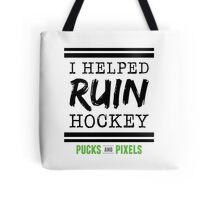 Hockey Ruiner (Black) Tote Bag