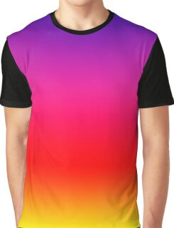 Bright Colorful Neon Gradient Graphic T-Shirt