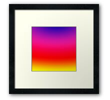Bright Colorful Neon Gradient Framed Print