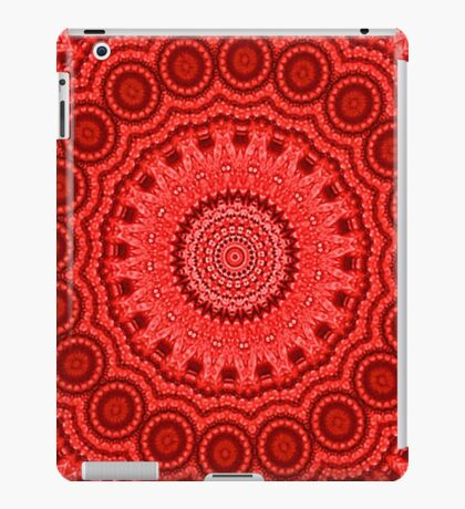 Decorative Red Mandala Indie Art iPad Case/Skin