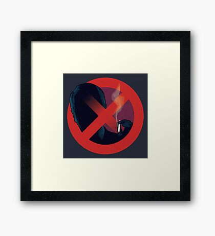 No Smoking, Man Framed Print