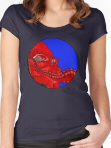 Octopus Circle Women's Fitted Scoop T-Shirt