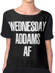 Wednesday Addams AF Chiffon Top
