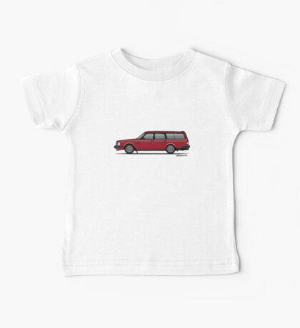 Volvo 245 Brick Wagon 200 Series Red Baby Tee