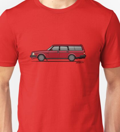 Volvo 245 Brick Wagon 200 Series Red Unisex T-Shirt