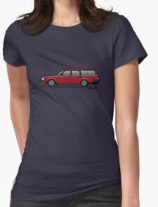 Volvo 245 Brick Wagon 200 Series Red Womens Fitted T-Shirt