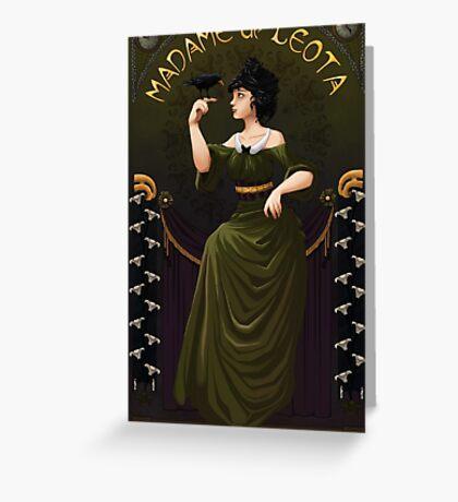 Haunted Mansion Madame Leota Greeting Card