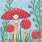 Uncommon Variety - Red Mushroom by Emma Hampton