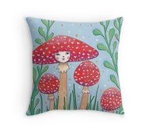 Uncommon Variety - Red Mushroom Throw Pillow