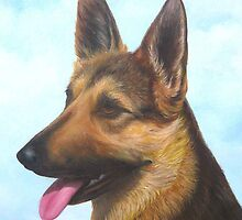 German Shepherd Dog by Vivian Eagleson