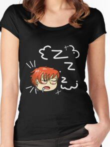 Mystic Messenger- 707 Sleeping Women's Fitted Scoop T-Shirt