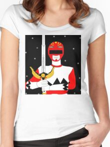 Power Rangers Lost Galaxy(Red Ranger) Women's Fitted Scoop T-Shirt