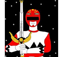 Power Rangers Lost Galaxy(Red Ranger) Photographic Print