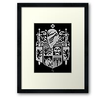 Iron Coat of Arms - DO Edition Framed Print