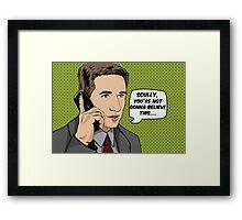 Pop Mulder Framed Print