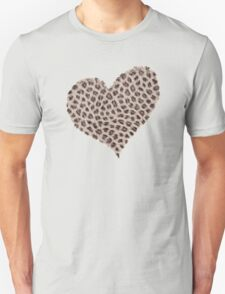Heart Small Cheetah Print Girly Shirt, Print, Poster, iPhone Case, Samsung Case, iPad Case, Home Decor, Throw Pillows, Totes Unisex T-Shirt